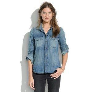 Madewell Button Down Jean Shirt